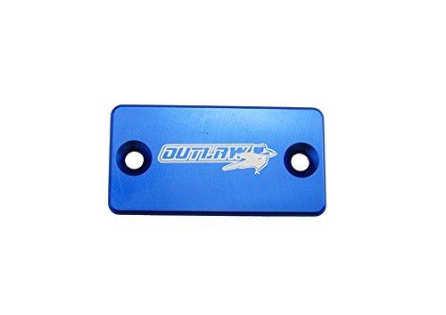 Outlaw Racing Billet Front Master Cylinder Reservoir Brake Cap Blue CR CRF KX KXF RM RMZ YZ YZF - Front Reservoir Cap Brake