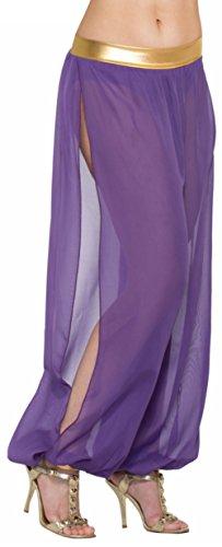 [Adult's Desert Arabian Persian Princess Purple Haram Pants Costume Accessory] (Arabian Woman Costumes)