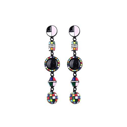 Long Earrings Crystal Drop Earring Bohemia Summer Statement Fringed Tassel Earrings for Women Party Gifts,Rhodium Plated