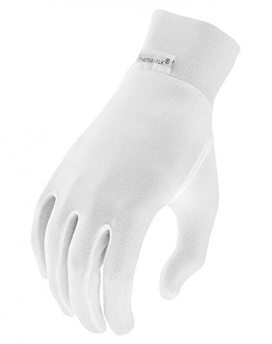 Silk Cycling Socks - Terramar Kids Thermasilk Ultra-Thin Performance Liner Gloves, Natural, Large (7)