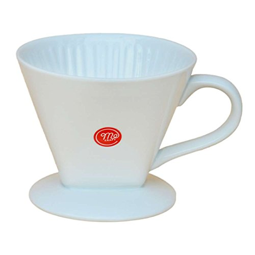 Mecraft -Ceramic Coffee Dripper/Pour Over for 1-4 Cups(White) - One Ceramic