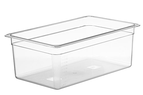 LIPAVI Sous Vide Container - Model C20 - 26 Quarts - 21 x 12.8 inch - Strong & Clear See-thought Polycarbonate - Matching L20 Rack and Tailored Lids for virtually ()