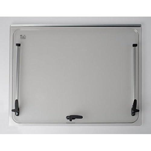 Vitre de remplacement 868x534 pour baie Seitz 900x600 - couleur gris - fenêtre accessoires camping-car