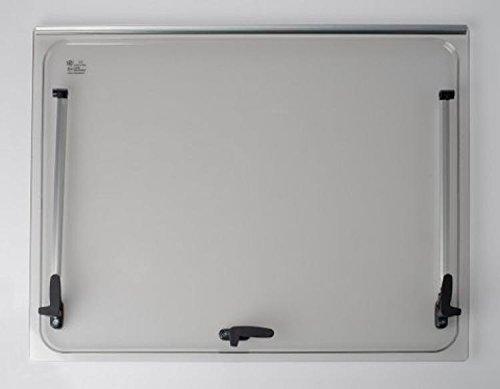 Autocaravana Vidrio de recambio 668x484 para ventana Seitz 700x550 Accesorios incluidos Color: Gris