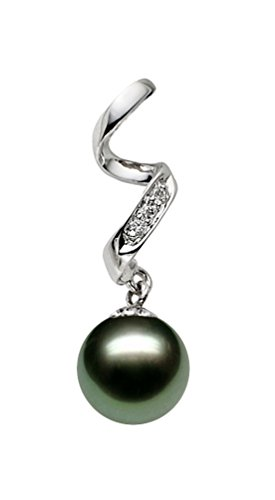14K-White-Gold-AAA-Quality-Black-Tahitian-Cultured-Pearl-Pendant-with-Diamonds