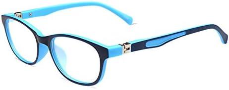 Hibote Mädchen Junge Brillen - TR90 Ultraleicht Clear Lens Glasses Frame Geek/Nerd Brillen mit Car Shape Gläser Fall