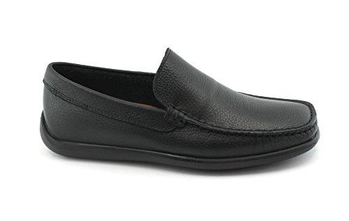 FRAU Fx 14L4 Zapatos Negros holgazanes del Hombre de Piel Flexible, Nero