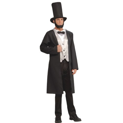 Honest Abe Lincoln Beard (Forum Patriotic Party Collection Abraham Lincoln Costume, Black, Standard)