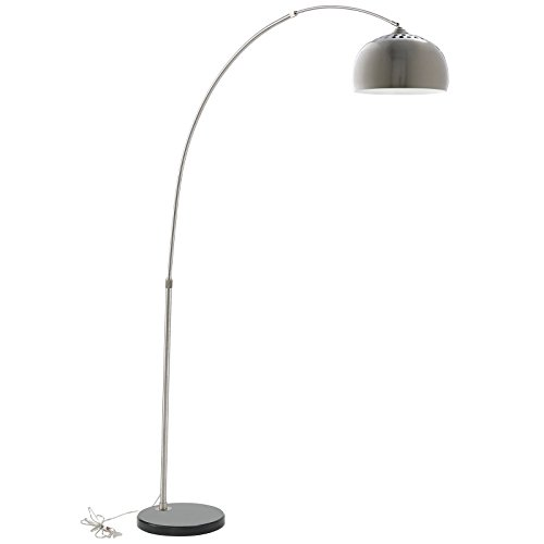 LexMod Arco Style Lamp with Black Round Marble Base by LexMod
