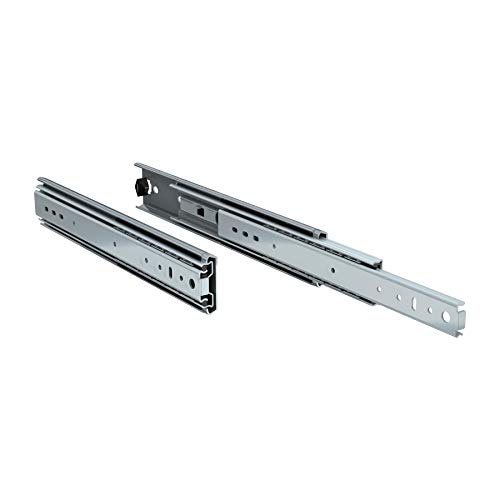 """TCH Hardware 14"""" Heavy Duty 250 lb Drawer Slides - 2-1/4"""" x 3/4"""" Wide Steel Full Extension Over Travel"""