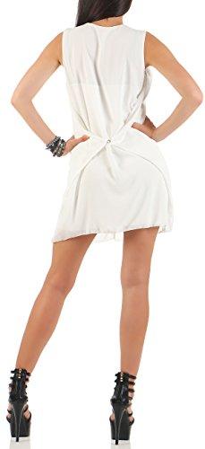 de t Taille Femme Unique malito Blanc tenue lgante soire 6878 Robe qTnnwFZdI