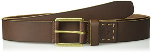 (Timberland Men's Casual Leather Belt, dark brown, 40)