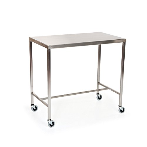 Stainless Steel Instrument Table with H-Brace 48''L x 24''W x 34''H by MID-CENTRAL MEDICAL