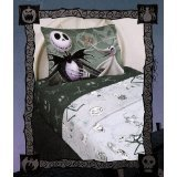 The Nightmare Before Christmas Pillowcase Pillow Cover Case ~ Jack Skellington & Zero