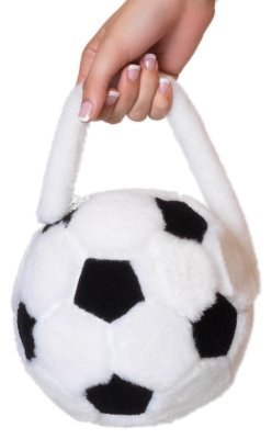 Leg Avenue Women's Plush Soccer Ball Purse One-Size White (Soccer Player Costumes)