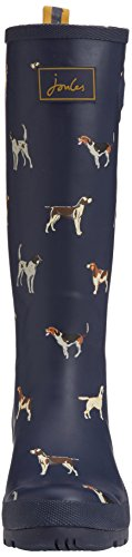 Joules Welly Print, Women's Rain Boots Navy Dogs