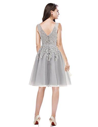 80603 Ballkleid Tüll Abendkleider kurz Prinzessin Hochzeit Clearbridal Cocktailkleid Partykleid CXRK80603 für Damen Schwarz qwzCxE7T