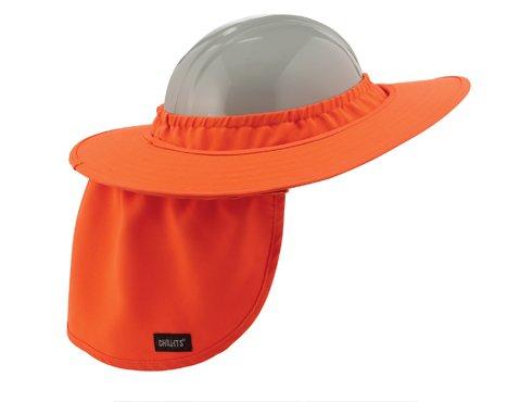 Ergodyne Chill-Its 6660 Hard Hat Brim with Shade - Orange - Pack 12 by Ergodyne