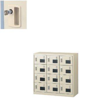 12人用シューズボックス(内筒交換錠)3列4段(窓付タイプ) SLC SLC-M12W-T B00MFTIX6C