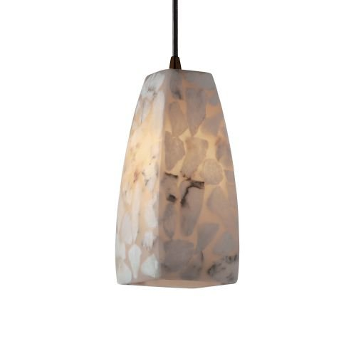 Justice Design Group ALR-8816-65-DBRZ Alabaster Rocks! Collection 1-Light Pendant, - 65 Dbrz Alabaster Rocks