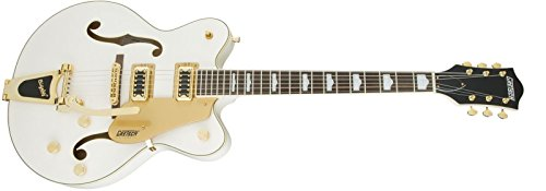 Gretsch G5422TG Electromatic Hollowbody Double-Cut with Bigsby - Snowcrest (Gretsch White Electric Guitar)