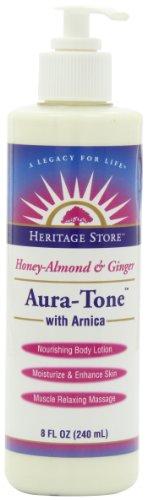 Patrimoine magasin Lotion de massage, Aura-Tone miel-amande et Ginger à l'Arnica, 8 once