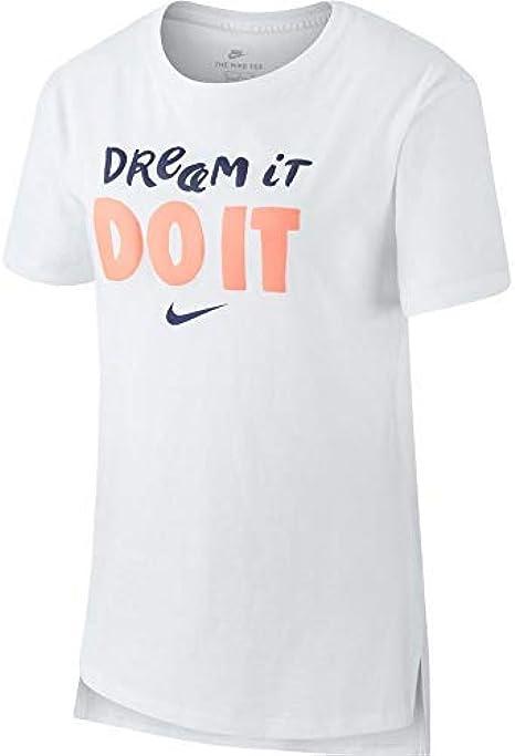 patinar carrete cantante  Niñas NIKE G Nk Dry tee Leg Vneck Swoosh Camiseta Ropa Camisetas