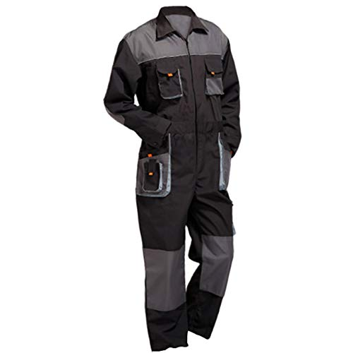 Aolamegs Men's and Women's Long Sleeve Coveralls for Worker Repairman Machine Auto Repair Electric Welding Work Clothing US XL by Aolamegs (Image #8)