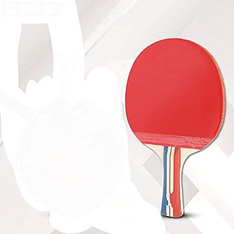 Chunhe - Raqueta de tenis de mesa con doble cola inversa y cola recta horizontal