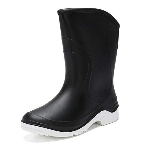 Chaussures skid Étanche cn39Noir Femme Tube Qiusa uk6 Printemps Bottes CaoutchouccoloréBleuTaille Adulte Mode Couverture D'été En Femmes Anti De Travail Eu39 Pluie Eau xdorBCe