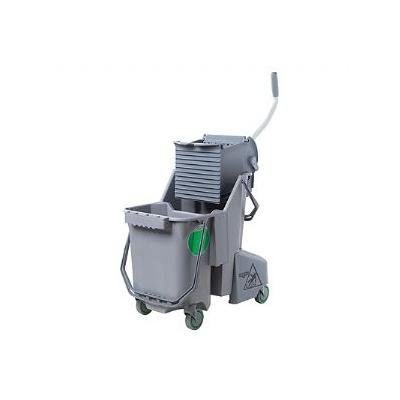 Mop Bucket and Wringer, 8 gal., Gray by Unger