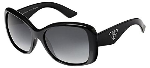 Prada 32PS 1AB5W1 Black Triangle Cats Eyes Sunglasses Polarised Lens Category ()