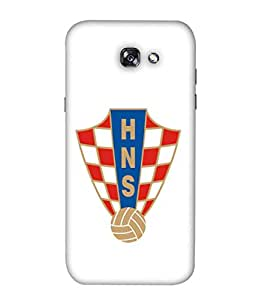 ColorKing Football Croatia 05 White shell case cover for Samsung A5 2017