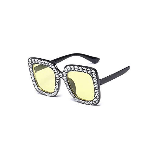 (Big Square Sunglasses 2019 New Women Frame Mirror Sun Glasses Female,5)