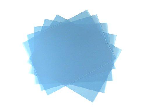 5 Sheet Bundle 9 Micron (1800 Grit) PSA Lapping Microfinishing Film Aluminum Oxide (OA) 8 1/2