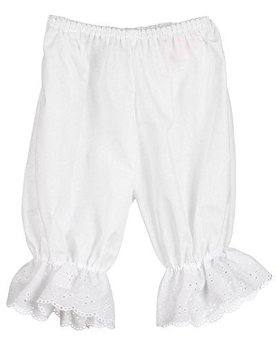 Little Zazzy Little Girls White Pantaloon Pettipants Bloomer Under-pants - stylishcombatboots.com