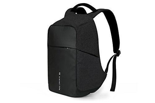 Anti-theft Backpack with USB Charging Port Fits 15.6-inch Laptop (Black) (Backplane Box Power)