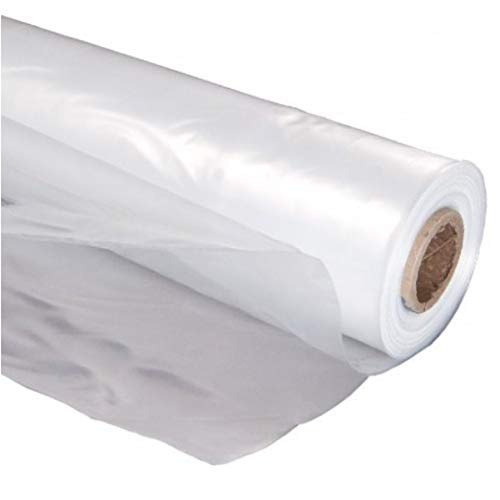A&A Green Store Greenhouse Plastic 4 Year 6 mil UV Resistant Clear Polyethylene Film (12' x 25')