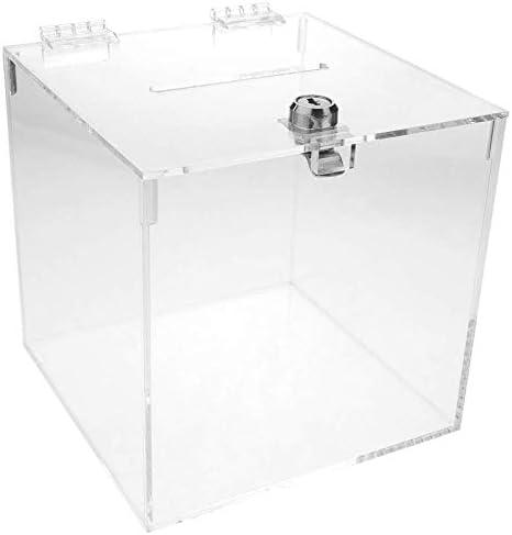 PrimeMatik - Urna de metacrilato Transparente con Llave de Seguridad 15x15x15cm: Amazon.es: Electrónica