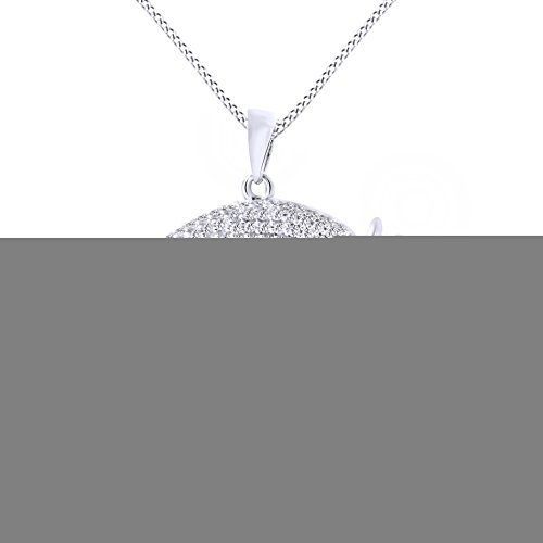 CLADDAGH RING STORE SEPTEMBER Birth Month Sterling Silver Claddagh Pendant LS-SP91-9. Made in IRELAND.