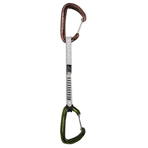 Metolius Inferno Wiregate Carabiner Quickdraw 5pk Brown / Green 7IN