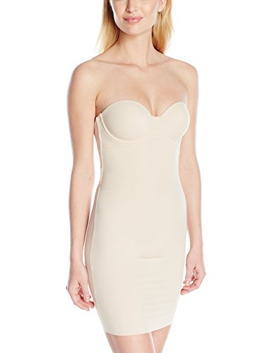 Flexees Women's Maidenform Shapewear Endlessly Slip With Foam Cups, Latte Lift, - Online Store Policy Return