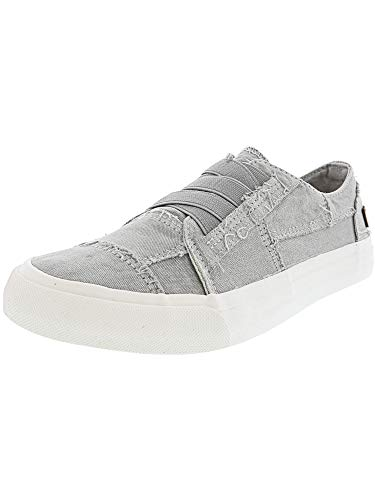 (Blowfish Women's Marley Sweet Gray Color Washed Canvas Ankle-High Fashion Sneaker - 7.5M )