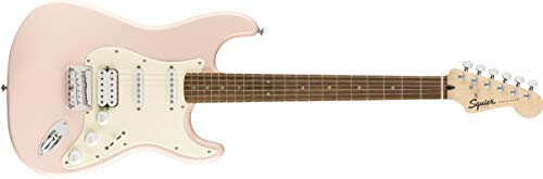 Squier by Fender Bullet Hard Tail Stratocaster HSS – Laurel Fingerboard – Shell Pink