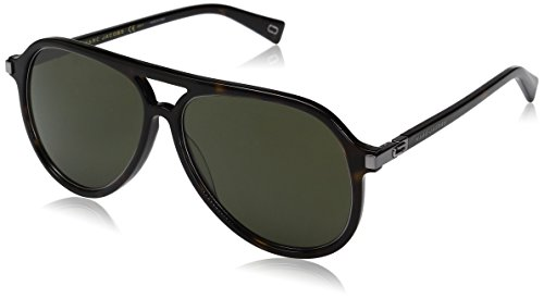 Marc-Jacobs-Mens-Marc174s-Aviator-Sunglasses-Dark-HavanaGreen-58-mm