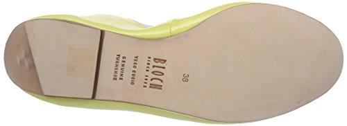 Flat Ballet 483 mujer de Bloch para cuero Sun Amarillo Gelb Bailarinas Luxury BL w5gz6qIE