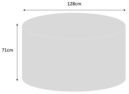 Housse pour table de jardin ronde 128cm polyester coloris gris ...