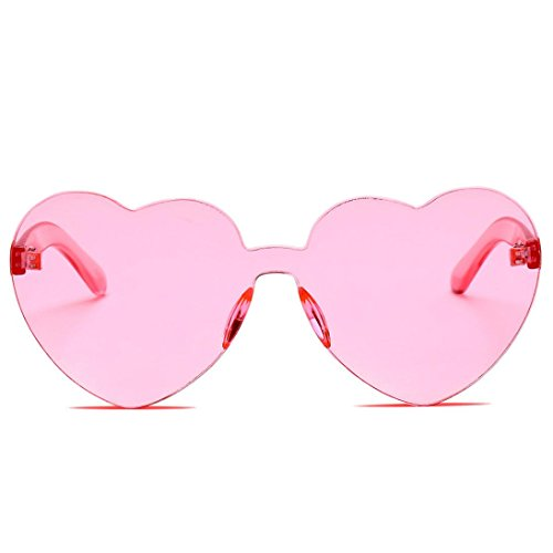 SUNGLASSES, Forthery WOMEN FASHION RETRO CLASSIC HEART-SHAPED POLARIZED SUN GLASSES - Heart Shaped Goggles