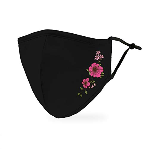 Weddingstar 3-Ply Adult Washable Cloth Face Mask Reusable and Adjustable with Filter Pocket – Simple Floral