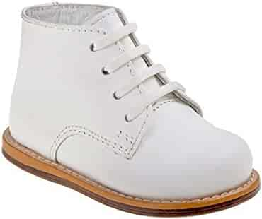 7efa07a7b Josmo Sturdy 100% Leather Baby Walking Shoes in White with Firm Sole for  Walking Support